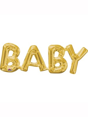 "Gold Baby 26"" Air Fill Shape Foil Balloon"