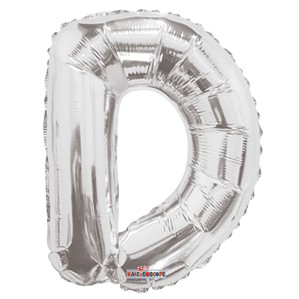 "Silver Letter D Air Fill 14"" Foil Balloon"