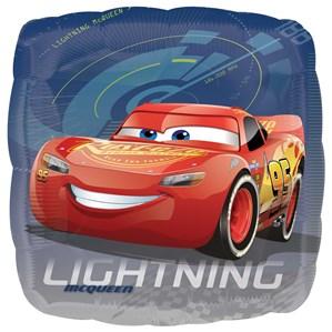 "Disney Cars 3 Lightening McQueen 18"" Square Foil Balloon"