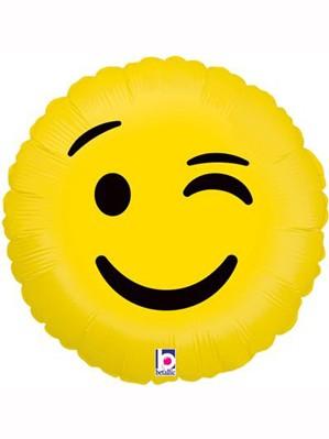 "Winking Emoji 18"" Foil Balloon"