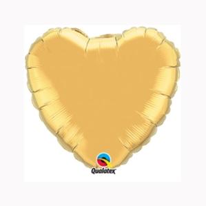 "Metallic Gold 9"" Heart Foil Balloon"