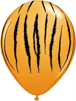 "Tiger Stripes 11"" Latex Balloons 25pk"