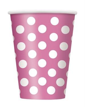 Pink Dots 12oz Large Paper Cups 6pk