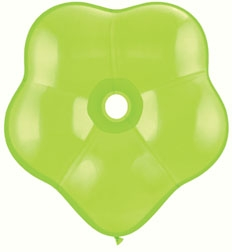 "6"" Lime Green GEO Blossom Latex Balloons 50pk"
