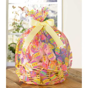 Easter Egg Printed Basket Bags 2pk