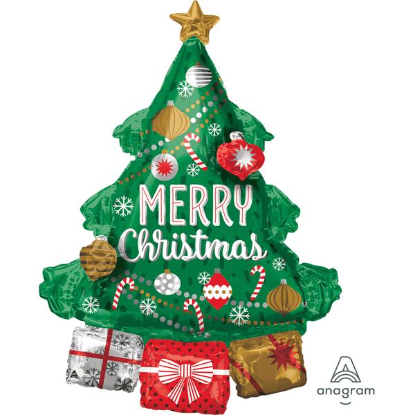 "Satin Luxe Merry Christmas 18/"" Foil Balloon"