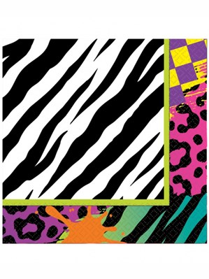 Totally 80s Luncheon Napkins 16pk