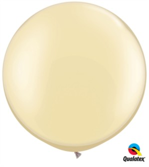 "30"" Giant Pearl Ivory Latex Balloon - 2pk"