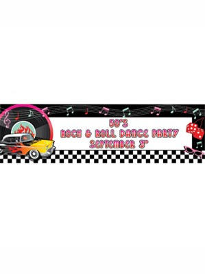 Rock & Roll Giant Personalised Banner