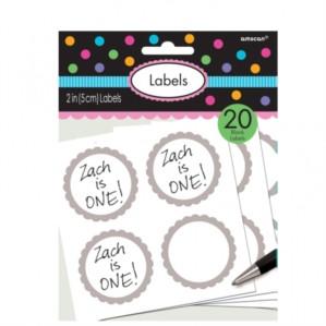 Scalloped Labels 20pk - Silver