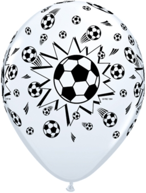 "Footballs 11"" White Latex Balloons 25pk"