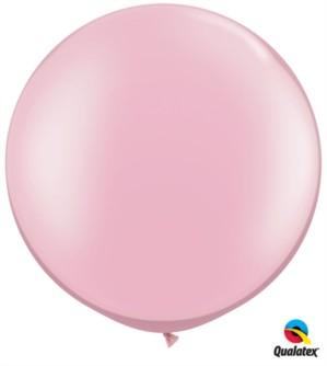 "Pearl Pink Round 30"" Latex Balloons 2pk"