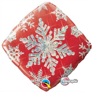 """Christmas Snowflake Diamond Foil Balloon 18"""""""