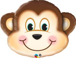"Mischievous Monkey 35"" SuperShape Foil Balloon"