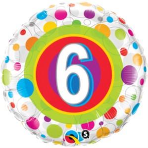 "18"" 6th Birthday Foil Balloon"