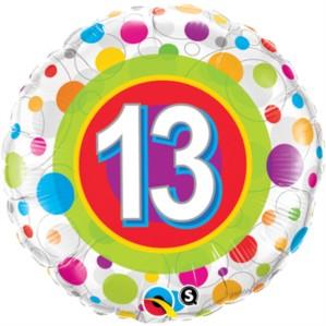 "18"" 13th Birthday Foil Balloon"