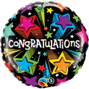 "18"" Congratulations Stars Foil Balloon"
