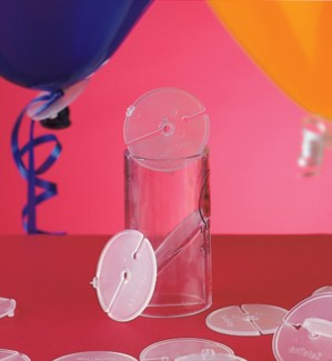 "Safetite Discs 100pk  - For 11"" Latex Balloons"