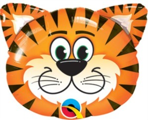 Tickled Tiger Foil Balloon 14""