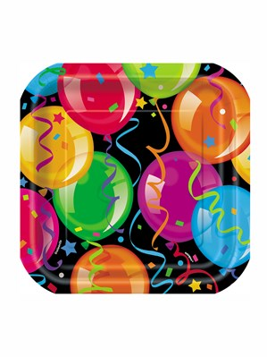 "10 Bravo Birthday 7"" Square Paper Plates"