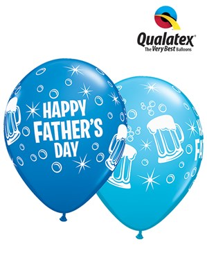 Happy Father's Day Beer Mug Latex Balloons 25pk