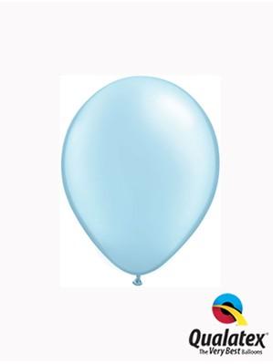 "5"" Pearl Light Blue Latex Balloons 100pk"