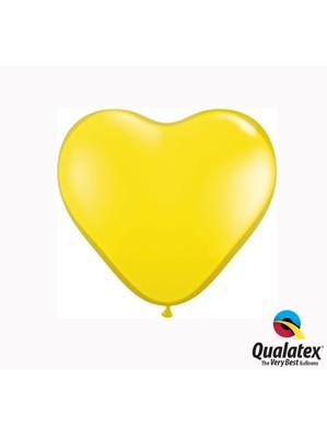 "6"" Citrine Yellow Latex Heart Balloons 100pk"