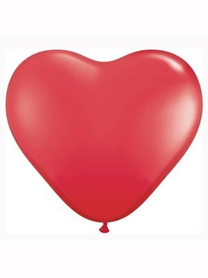 "11"" Red Heart Shaped Latex Balloons 100pk"