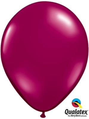 "11"" Sparkling Burgundy Latex Balloons 100pk"