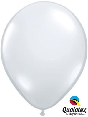 "11"" Diamond Clear Latex Balloons 100pk"