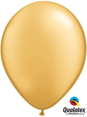 "11"" Metallic Gold Latex Balloons 100pk"