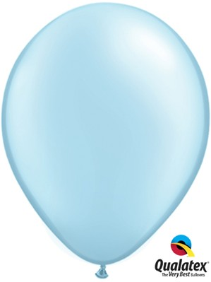 "11"" Pearl Light Blue Latex Balloons 100pk"