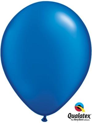 "11"" Pearl Sapphire Blue Latex Balloons 100pk"