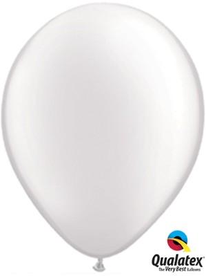 "11"" Pearl White Latex Balloons 100pk"