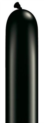 646Q Onyx Black Modelling Balloons - 50pk