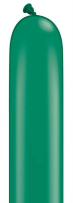 "260Q (2"" x 60"") Emerald Green Latex Modelling Balloons 100pk"