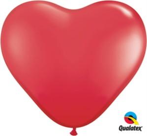 3ft Red Latex Heart Balloons 2pk