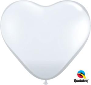 3ft Diamond Clear Latex Heart Balloons 2pk