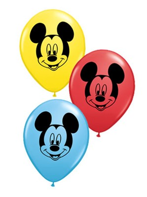 "Assorted Disney Mickey Mouse 5"" Latex Balloons 100pk"
