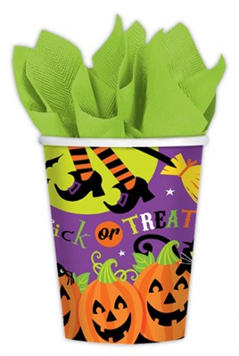 Halloween Trick Or Treat Paper Cups 8pk