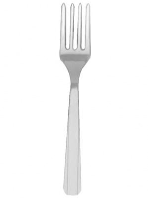 Silver Plastic Forks 20pk