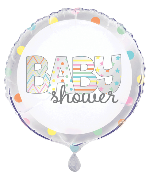 """Baby Shower Colourful 18"""" Foil Balloon"""
