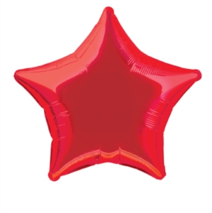 "Single 20"" Red Star Shaped Foil Balloon"