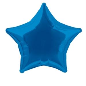 "Single 20"" Royal Blue Star Shaped Foil Balloon"