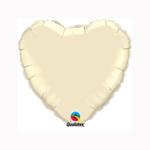 "Pearl Ivory 9"" Heart Foil Balloon"