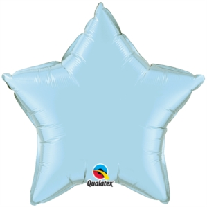 "Pearl Light Blue 36"" Star Foil Balloon"