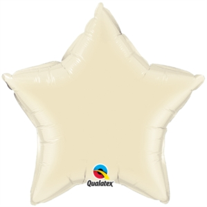 "Pearl Ivory 20"" Star Foil Balloon"