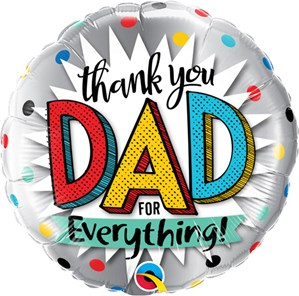 "Thank You Dad 18"" Foil Balloon"