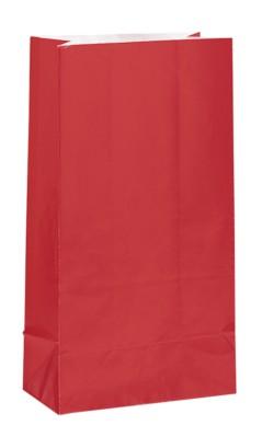 Red Paper Sweet Bags 12pk
