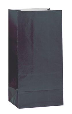 Black Paper Sweet Bags 12pk